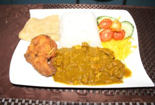 Curried Goat and Fried Chicken